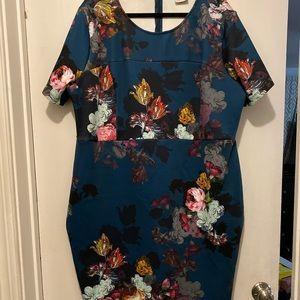 ASOS Curve size 22 Midi dress in floral print